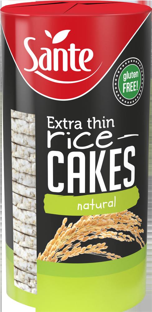 t 1 sante 0446 bolachas de arroz extra fino naturais 110g fitness, nutrition