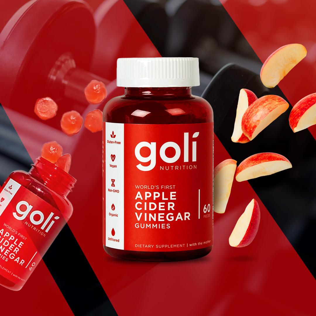 goli1318 goli nutrition goma de viangre de maca 60 unidades fitness, nutrition