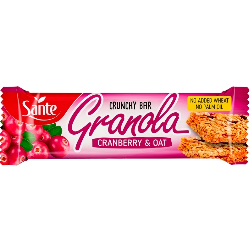 p1sante5348 granola cereal bar oats and cranberry 40g fitness, nutrition