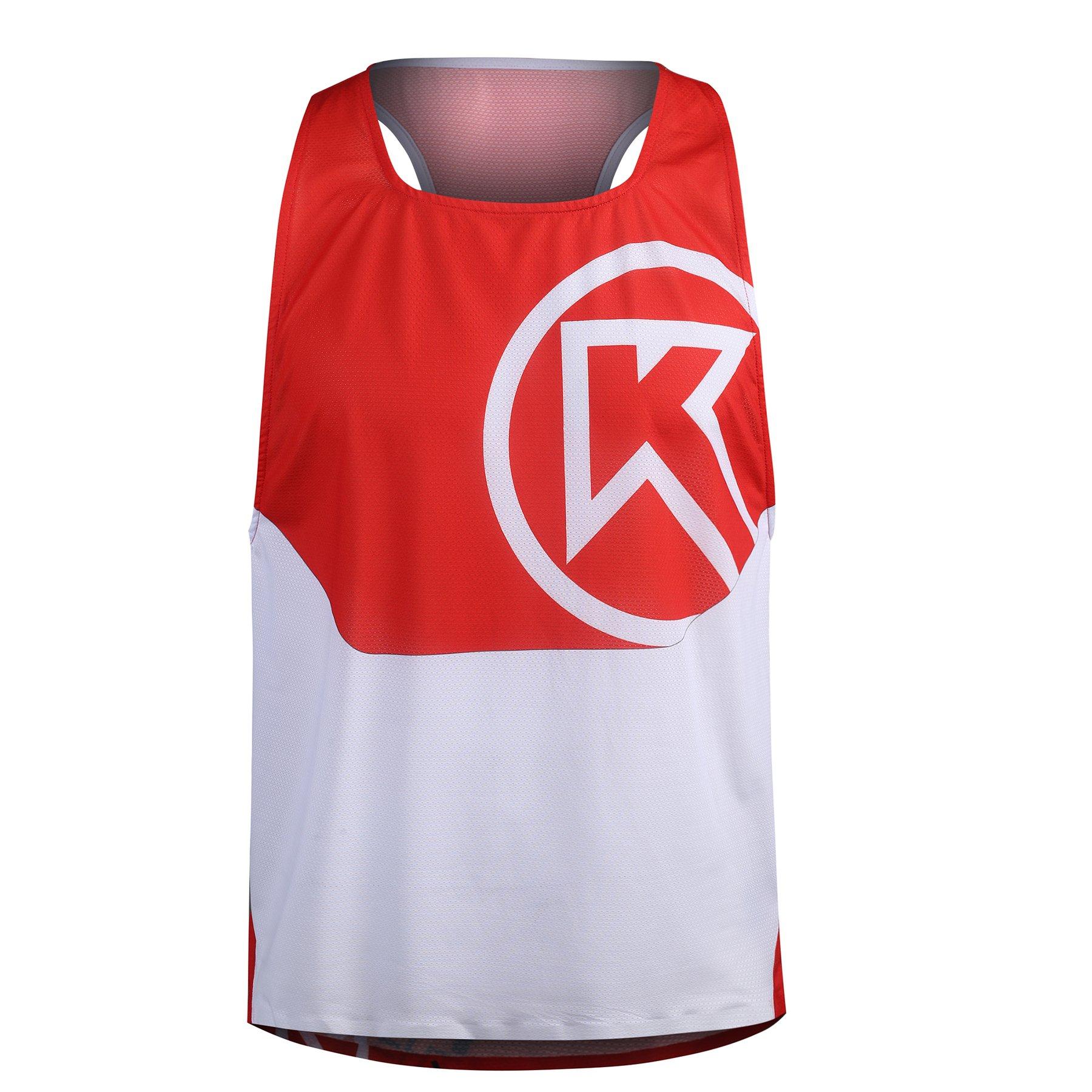 201025002 t shirt isonik maratona vermelha fitness, nutrition