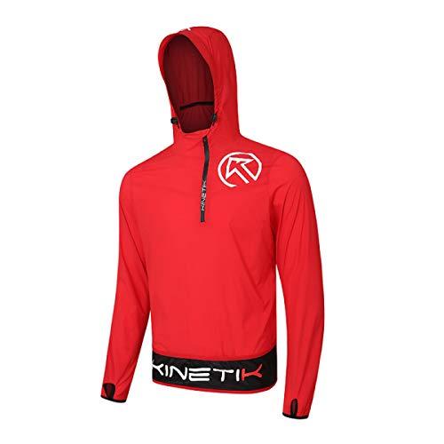 20304802 windproof trail running jacket kameleon red fitness, nutrition
