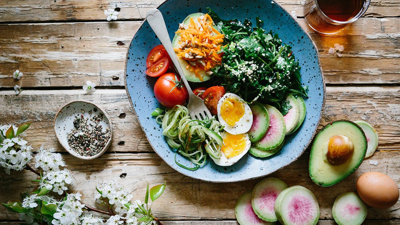 Alimentação saudável, salada de verão