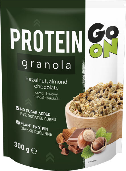 p 1 sante 5442 go on protein granola com frutos secos e chocolate 300g fitness, nutrition