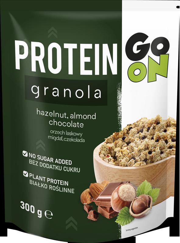 p 1 sante 5442 go on protein granola com frutos secos e chocolate 300g fitness, nutrition