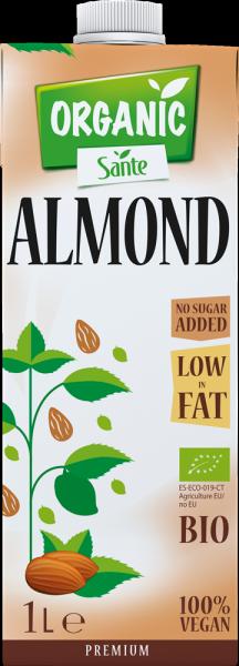 t 1 sante 7866 bebida organica de amendoa sem adicao de acucar 1l fitness, nutrition