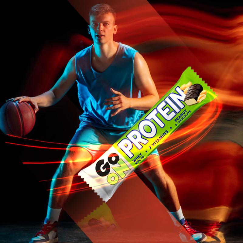p1sante2402 5x go on protein bar peanut 50g fitness, nutrition