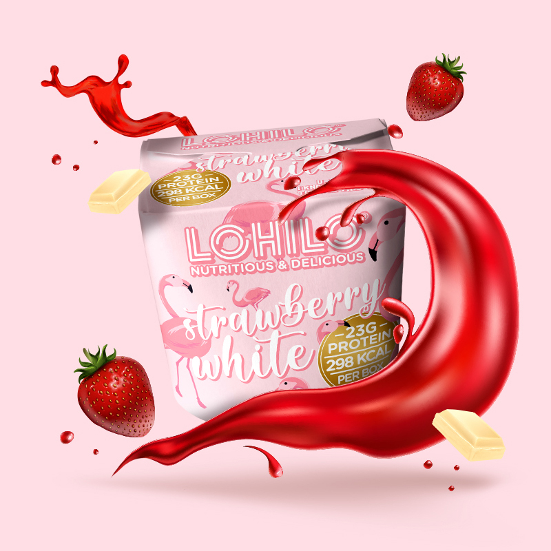 1564910 lhl strawberry white 350ml fitness, nutrition