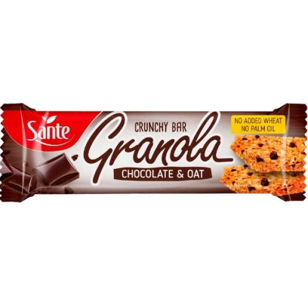 p1sante5347 granola cereal bar oats and chocoolate 40g fitness, nutrition