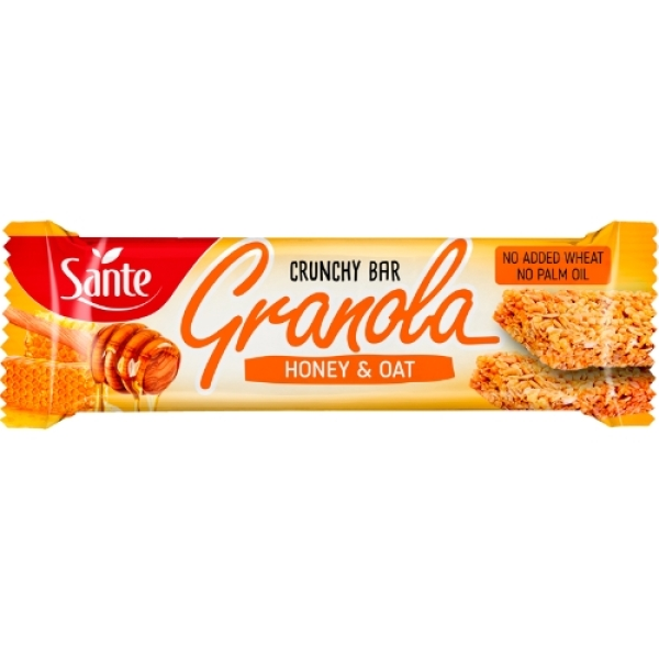 p1sante5349 granola cereal bar oats and honey 40g fitness, nutrition