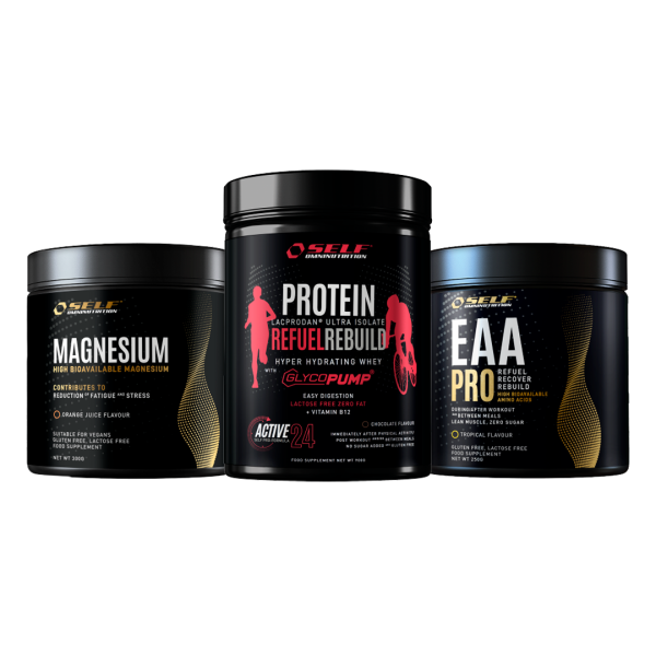 selfrebuild pack rebuild magnesio  proteina recuperacao  eaapro fitness, nutrition