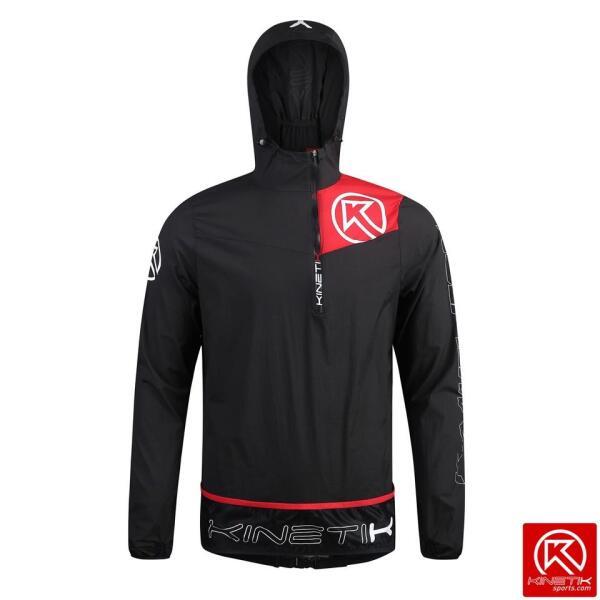 20304801 windproof trail running jacket kameleon black fitness, nutrition