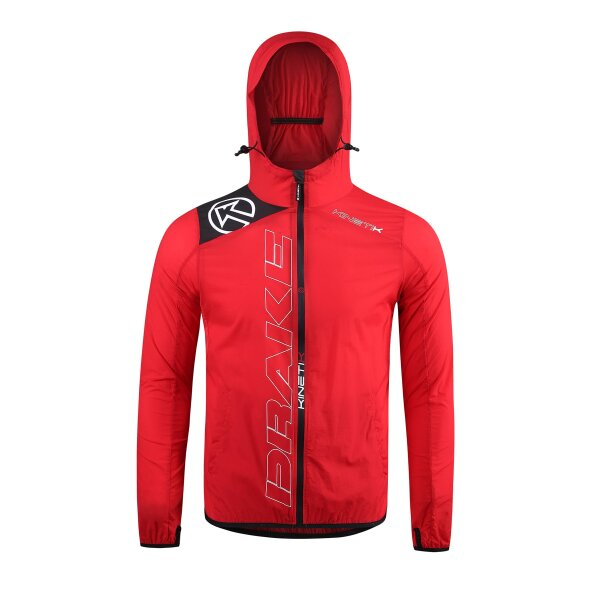 20304902 windproof running jacket drake unisex red fitness, nutrition