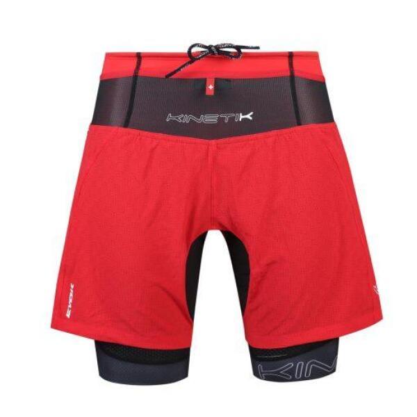 20103202 mens trail running shorts ultra evok red fitness, nutrition