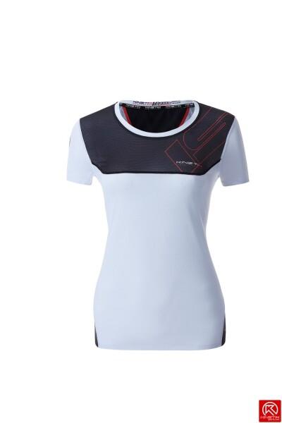20001801 t shirt isonik manga curta preto mulher fitness, nutrition